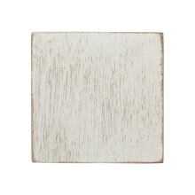 Square Whitewashed Wood Shape by ArtMinds