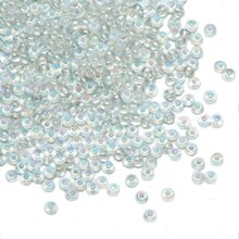 Dazzle-It! 6/0 Czech Glass Seed Beads, Crystal AB