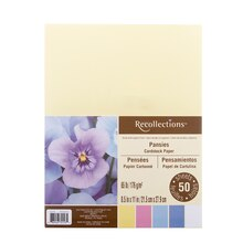 Pansies Cardstock Paper by Recollections