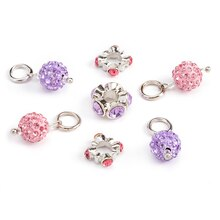 Pink & Purple Pave Drops by Bead Landing Bits & Baubles