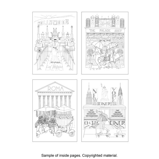 Creative HavenR CityScapes Coloring Book