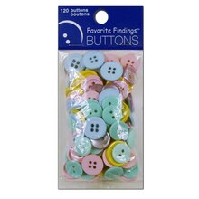 Favorite Findings Buttons, Pastel