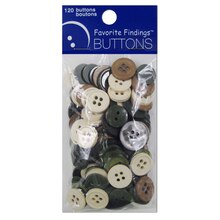 Favorite Findings Buttons, Neutral Assortment