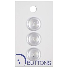 Blumenthal Lansing 2 Hole Buttons, White 3 Pack