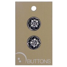 Blumenthal Lansing Decorative Buttons, Silver 2 Pack