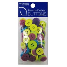 Blumenthal Lansing Favorite Findings Fun Buttons, Multicolor