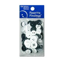 Blumenthal Lansing Favorite Findings Buttons, Black & White