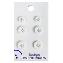 Blumenthal Lansing White 4 Hole Buttons, 6 Pack