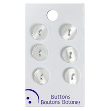 Blumenthal Lansing White 2 Hole Buttons, 6 Pack
