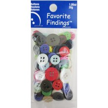 Blumenthal Lansing Favorite Findings Buttons, Multicolor