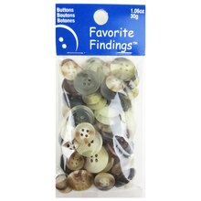 Blumenthal Lansing Favorite Findings Buttons, Natural Mix