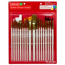 Variety Taklon Brush Super Value Pack by Craft Smart