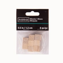 "ArtMinds Wood Blocks, 1/2"", Package"