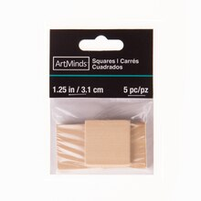 "Wood Squares by ArtMinds, 1 1/4"", Package"