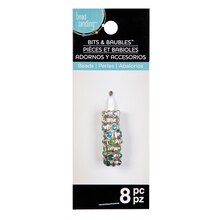 Blue & Green Rhinestone Spacer Beads by Bead Landing Bits and Baubles