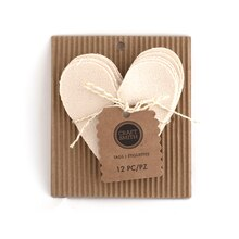 Craft Smith Heart Canvas Tags