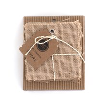 Craft Smith Square Burlap Tags