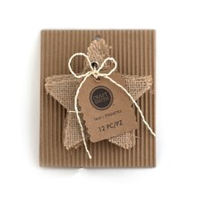 Craft Smith Star Burlap Tags