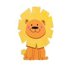 Darice Glitter Painted Wood Lion
