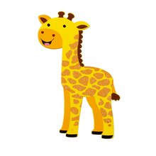 Darice Glitter Painted Wood Giraffe