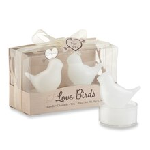 Kate Aspen Love Birds Tea Light Candles, 2 Pack