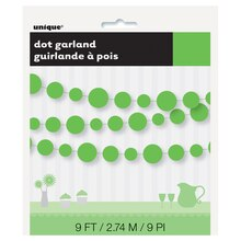 Paper Lime Green Circle Garland