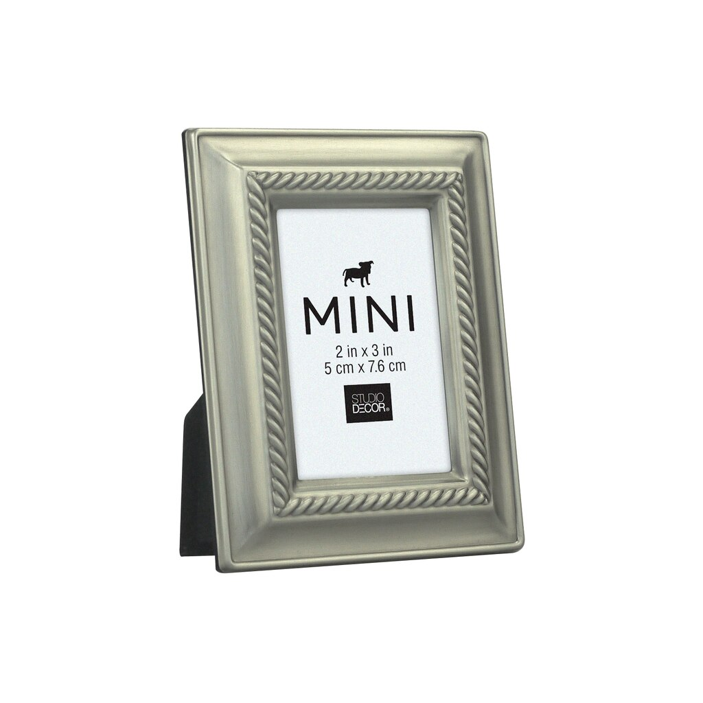 Find the Antique Pewter Rope Mini Frame by Studio Décor® at Michaels