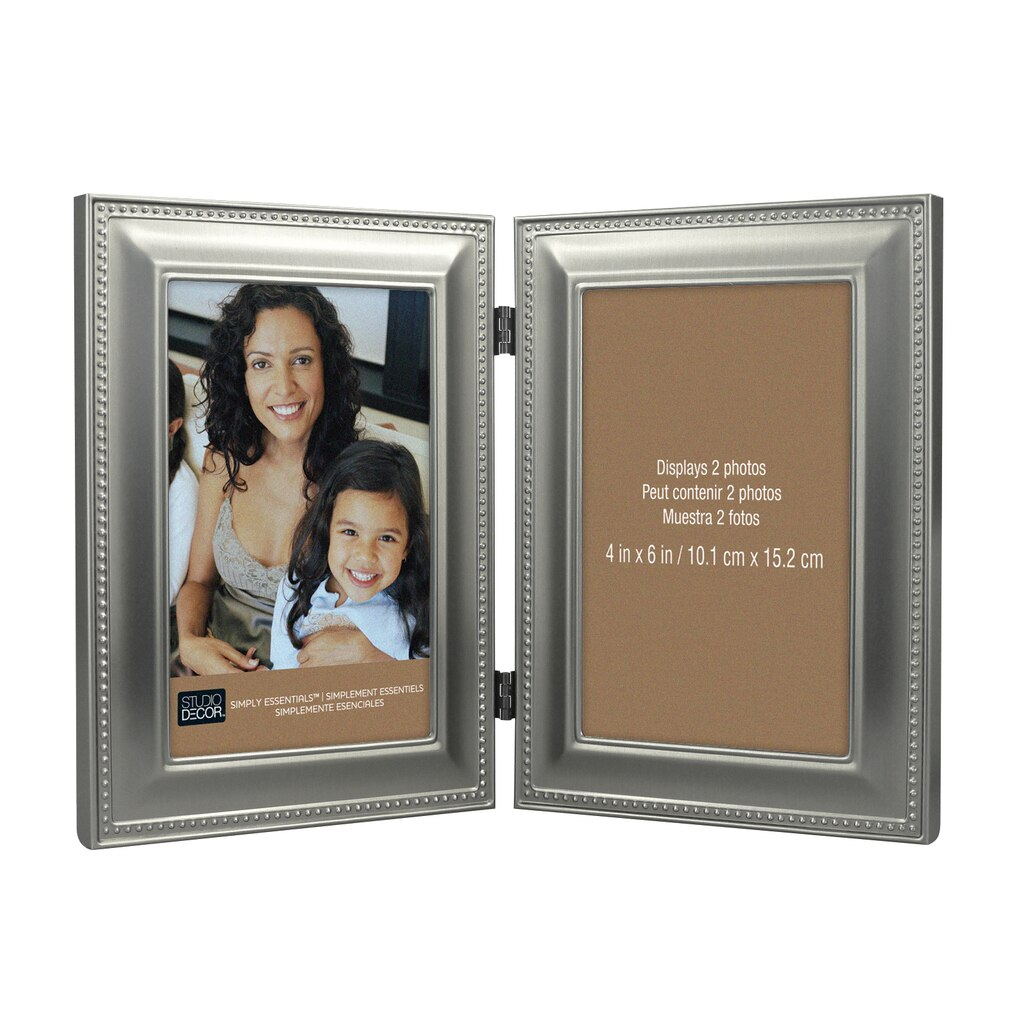 Buy the Antique Pewter Hinged Frame, 4\
