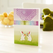Lavender Easter Bunny Card, medium