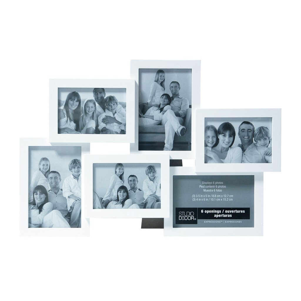Buy the White 6-Opening Collage Frame, Expressions™ By Studio Décor ...