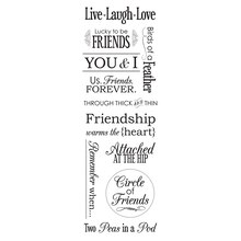 Momenta Black & White Mini Vellum Message Stickers, Friends
