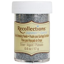 Tinsel Embossing Powder by Recollections Signature, Silver