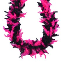 Feather Boa by ArtMinds, Black & Pink