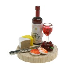 Sparrow Innovations Miniatures Wine, Cheese & Fruit Plate