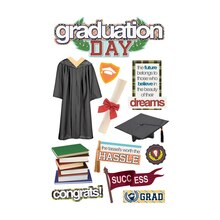 Paper House 3D Stickers, Graduation Day