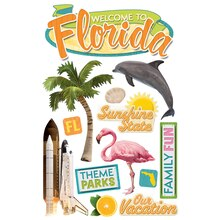 Paper House 3D Stickers, Florida