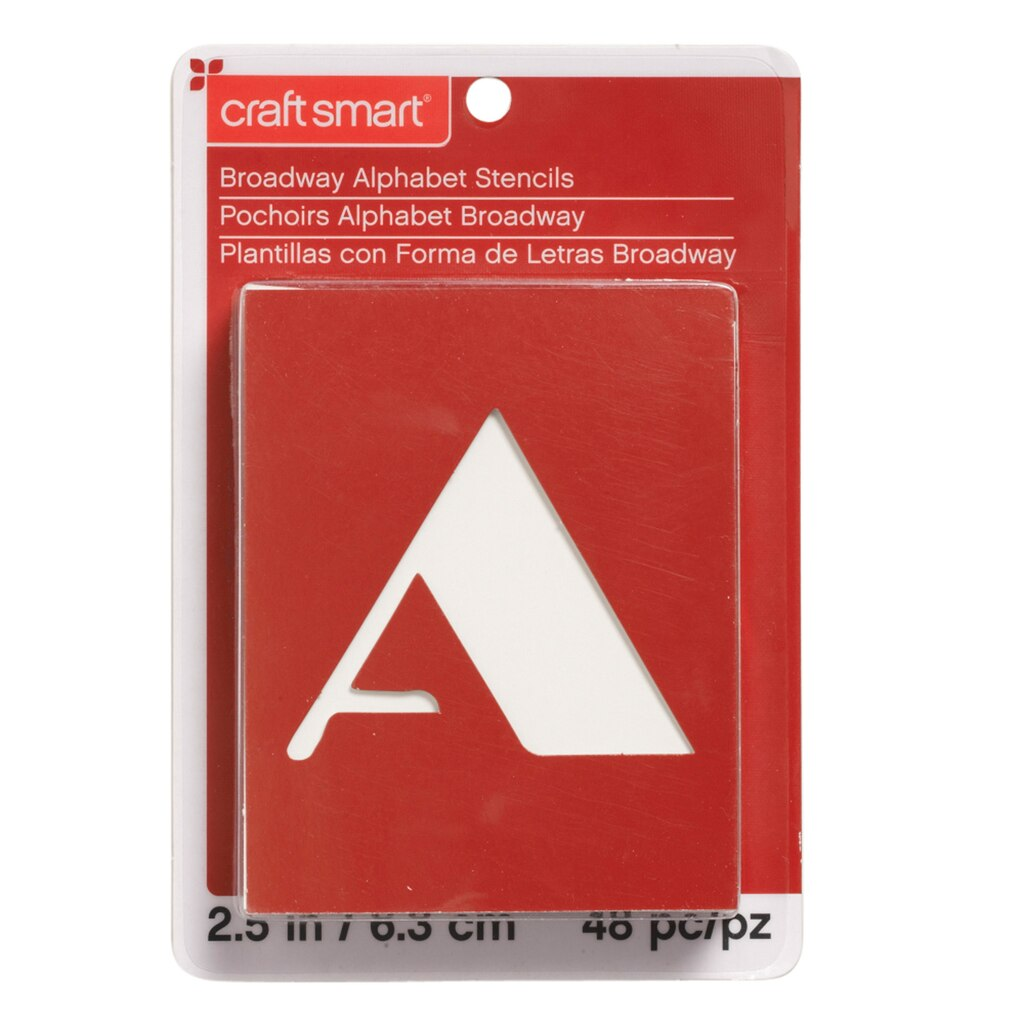 Find the Broadway Alphabet Stencils by Craft Smart™ at Michaels