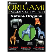 Yasutomo Nature Origami Folding Paper, Zoo World