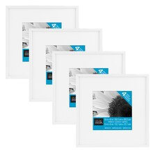 "White Frame With Mat 4-Pack by Studio Decor Basics, 5"" x 5"""