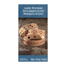 Medium Natural Leather Wristband Kit by ArtMinds