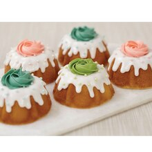 Rosette Topped Mini Fluted Cakes, medium