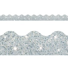 Trend Enterprises Terrific Trimmers Silver Sparkle Border