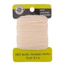 Acrylic Craft Yarn by Loops & Threads, Cream
