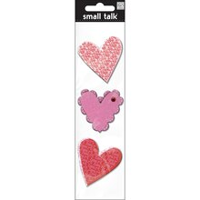 Me & My Big Ideas Small Talk Embellishments, Valentine Hearts