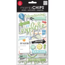 mambiCHIPS Chipboard Stickers, Vacation