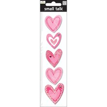 MAMBI Small Talk Ellen Krans Stickers, Pink Hearts
