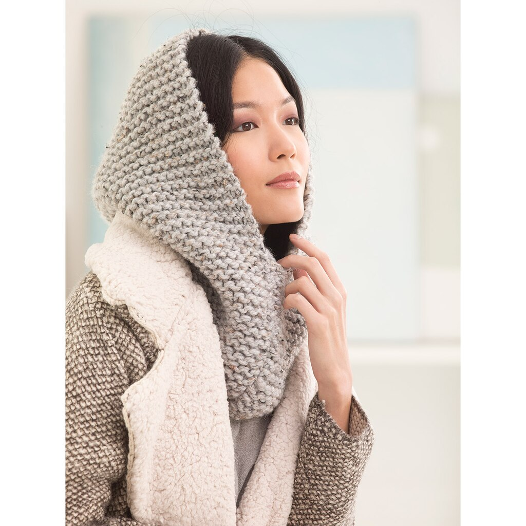Wool Ease Thick And Quick Knitting Patterns : Lion Brand  Wool-Ease  Thick & Quick  Margate Hood (Knit)