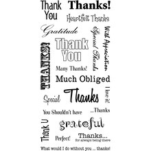 Inkadinkado World Card Making Clear Stamps, Thank You Words