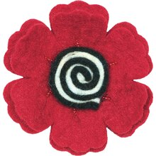 Dimensions Feltworks Red Poppy Flower