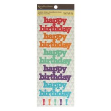 Happy Birthday Cardstock Stickers by Recollections